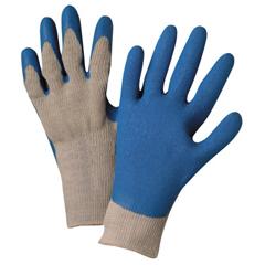 ANR101-6030-M - Anchor BrandLatex Coated Gloves, Medium, Gray/Blue