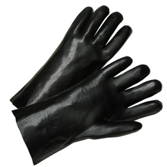 ANR101-7005 - Anchor Brand12 In Long PVC Coated Gloves, Black