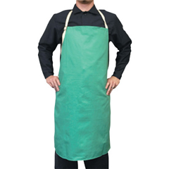 BWL902-CA-600 - Best WeldsCotton Sateen Bib Aprons, 24 In X 36 In, Visual Green, W/Leather Reinforcement