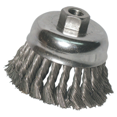 ANR102-R3KC14S - Anchor BrandKnot Wire Cup Brush, 3 In Dia., 5/8-11 Arbor, .014 In Stainless Steel