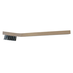 ANR102-BW-190 - Anchor BrandInspection Brushes, 3 X 7 Rows, Stainless Steel Bristles, Curved Wood Handle