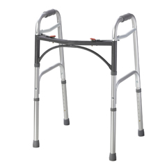 10200-1 - Drive MedicalDeluxe Two Button Folding Walker