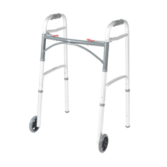 10210-1 - Drive MedicalDeluxe Two Button Folding Walker with 5 Wheels