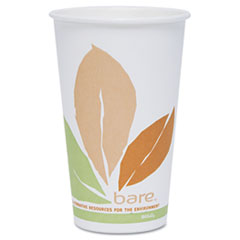 SLOOF16PLJ7234 - Solo Bare® Eco-Forward® 16 oz. PLA Paper Hot Cups