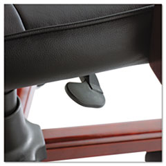 ALEMA42LS10M - Alera® Madaris Series Mid-Back Swivel/Tilt Leather Chair with Wood Trim
