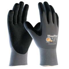 BOU112-34-844-L - BoutonMaxiflex Endurance, 15 Gauge, Coated Palm And Fingers, Large, Gray/Black