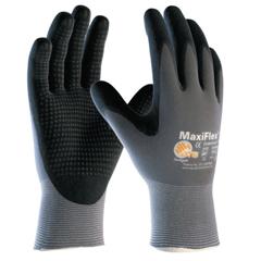 BOU112-34-845-L - BoutonMaxiflex Endurance, 15 Gauge, Coated Palm/Fingers/Knuckles, Large, Gray/Black