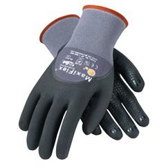 BOU112-34-844-XL - BoutonMaxiflex Endurance, 15 Gauge, Coated Palm And Fingers, X-Large, Gray/Black