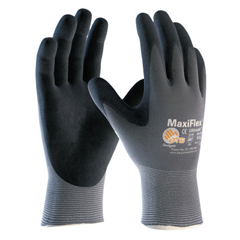 BOU112-34-874-L - BoutonMaxiflex Ultimate, Coated Palm And Fingers, Large, Gray/Black