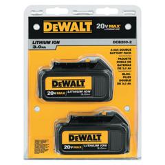 DEW115-DCB200-2 - DeWalt20V MAX Lithium Ion Batteries, 20 V Lithium Ion, 2 Per Pack