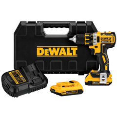 DEW115-DCD791D2 - DeWalt - 20V MAX Lithium Ion Brushless Compact Drill/Driver Kits, 1/2 Chuck, Spotlight Mode