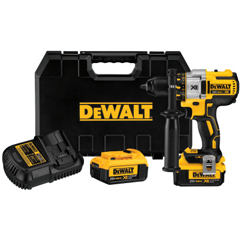 DEW115-DCD991P2 - DeWalt20V MAX Xr Lithium Ion Brushless Drill/Driver Kit, 1/2 In Chuck, Spotlight Mode