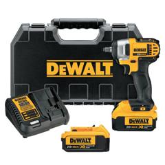 DEW115-DCF883M2 - DeWalt20V MAX Impact Wrench Kit, 3/8 In, Hog Ring Avil, 2,300 RPM, W/Charger, Bag