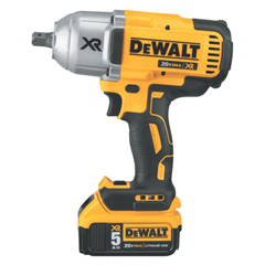 DEW115-DCF899P2 - DeWalt20v MAX* XR Brushless High Torque 1/2 Impact Wrench Kit with Detent Anvil