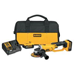 DEW115-DCG412P2 - DeWalt20V MAX Lithium Ion Grinder Tool Kit, 2 Batteries, Charger, Spanner Wrench, Bag