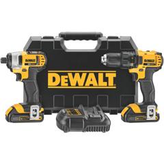 DEW115-DCK280C2 - DeWalt20V MAX Cordless Combo Kits, Dcd780 1/2 Drill/Driver; Dcf885 1/4 Imp Driver