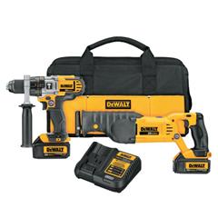 DEW115-DCK292L2 - DeWalt - 20V MAX Cordless Combo Kits, 1/2 Hammer Drill; 1/4 In Impact Driver