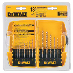 DEW115-DW1363 - DeWaltTitanium Split Point Drill Bit Sets