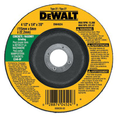 DEW115-DW4524 - DeWaltType 27 Depressed Center Wheels