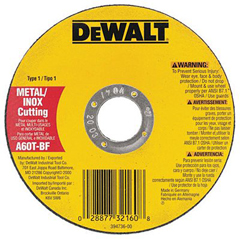 DEW115-DW8063 - DeWaltType 1 Metal Thin Cut-Off Wheels