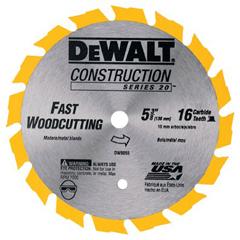 DEW115-DW9055 - DeWaltCordless Construction Saw Blades