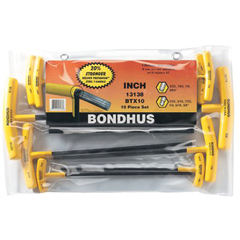 BON116-13138 - BondhusBalldriver® T-Handle Hex Key Sets