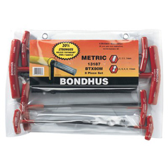 BON116-13187 - BondhusBalldriver® T-Handle Hex Key Sets