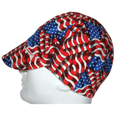 CMC118-2000ESS - Comeaux CapsDeep Round Crown Caps, One Size Fits All, Stars & Stripes