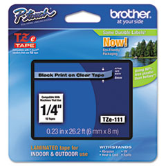 BRTTZE111 - Brother® P-Touch® TZ/TZe Series Standard Adhesive Laminated Labeling Tape