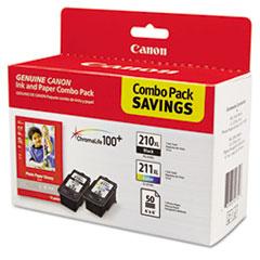 CNM2973B004 - Canon 2973B004 Inks  Paper Pack, PGI-210XL, CL211XL, 2 Inks  50 Sheets 4 x 6 Paper