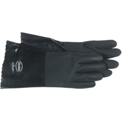 BSS121-1SP0714 - BossJersey Lined Black PVC Coated Gloves - Large