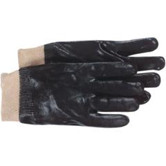 BSS121-1SP8712 - BossInterlock Lined Black PVC Coated Gloves - Large