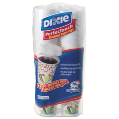 DXE5310COMBO600 - Dixie® PerfecTouch® Paper Hot Cups & Lids Combo Bag