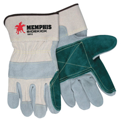 CRW127-16010L - Memphis GloveSidekick Side Leather Gloves, Large, Leather