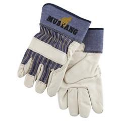 CRW127-1935XL - Memphis GloveGrain Leather Palm Gloves, X-Large, Grain Cowhide, White