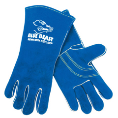 CRW127-4600 - Memphis GlovePremium Quality Welders Gloves, Select Side Leather, X-Large, Blue