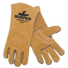 CRW127-4620 - Memphis GloveKodiak Leather Welders Gloves, Side Cow Leather, XL, Brown
