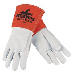 CRW127-4840XL - Memphis GloveRed Ram Mig/Tig Welders Gloves, Grain Goat Skin, XL, White/Russet