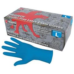 CRW127-5048L - Memphis GloveMedtech Exam Gloves, Large, Blue, Latex, 15 Mil