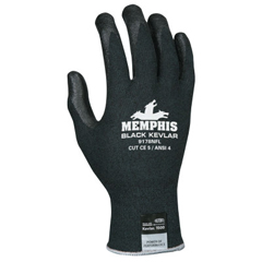 CRW127-9178NFL - Memphis Glove9178Nf Cut Protection Gloves, Large, Nylon With Kevlar, Black
