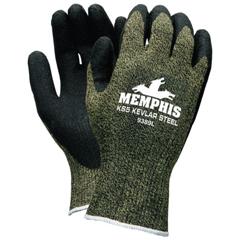 CRW127-9389L - Memphis GloveKS-5 Gloves, Large, Green/Black