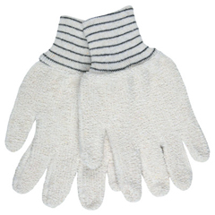CRW127-9402KM - Memphis GloveTerrycloth Gloves, Small, Natural, Knit Wrist Cuff