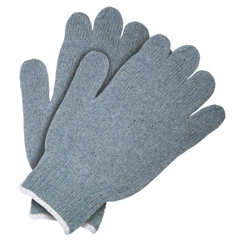 CRW127-9507SM - Memphis GloveHeavy Weight String Knit Gloves, Small, Knit-Wrist, Gray