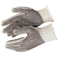 CRW127-9660XLM - Memphis GlovePVC Dot String Knit Gloves, X-Large, Natural, 2 Sided Dots