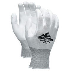 CRW127-9666L - Memphis GlovePU Coated Gloves, 13-Gauge, Large, Gray
