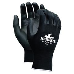 CRW127-9669M - Memphis GlovePU Coated Gloves, Medium, Black/Blue