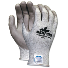 CRW127-9672L - Memphis GloveDyneema Blend Gloves, Large, Salt-And-Pepper/Gray