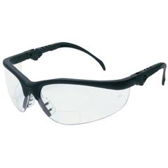 CRW135-K3H20 - CrewsKlondike Plus Magnifiers Protective Eyewear, Clear Lens, Black Frame, 2 Diopter