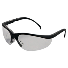 CRW135-KD110 - Crews - Klondike Protective Eyewear, Clear Lenses, Black Frame