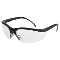 CRW135-KD110AF - CrewsKlondike Protective Eyewear, Clear Anti-Fog Lenses, Black Frame